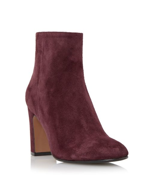 Dune Black | Purple Ophira Suede Almond Toe Ankle Boots | Lyst