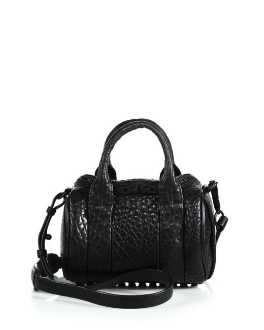 Alexander Wang | Mini Rockie In Pebbled Black With Matte Black | Lyst