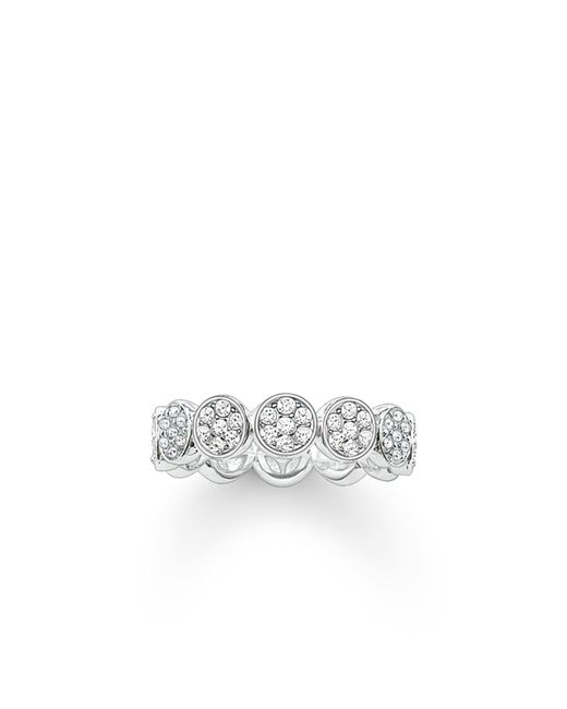 Thomas Sabo | White Sparkling Circles Round Pave Set Ring | Lyst