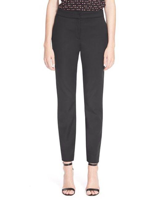 St. John | Black Emma Micro Ottoman Cropped Pants | Lyst