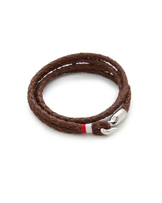 Miansai | Brown Trice Woven Leather Wrap Bracelet for Men | Lyst