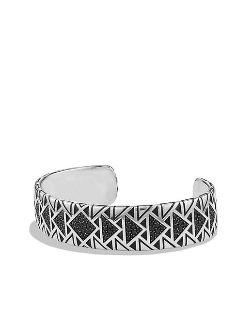 David Yurman | Frontier Cuff Bracelet With Black Diamonds | Lyst