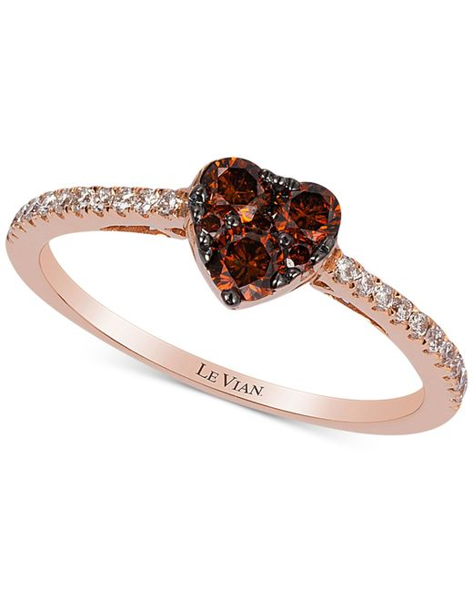 Mens Chocolate Diamond Ring