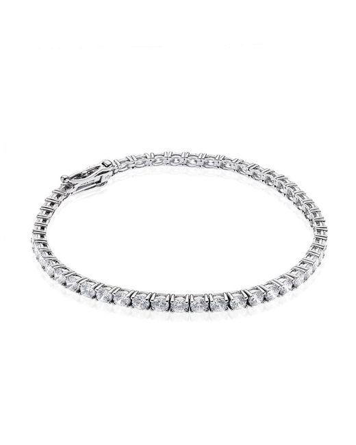 Carat* | Metallic Brilliant Round Tennis Bracelet | Lyst