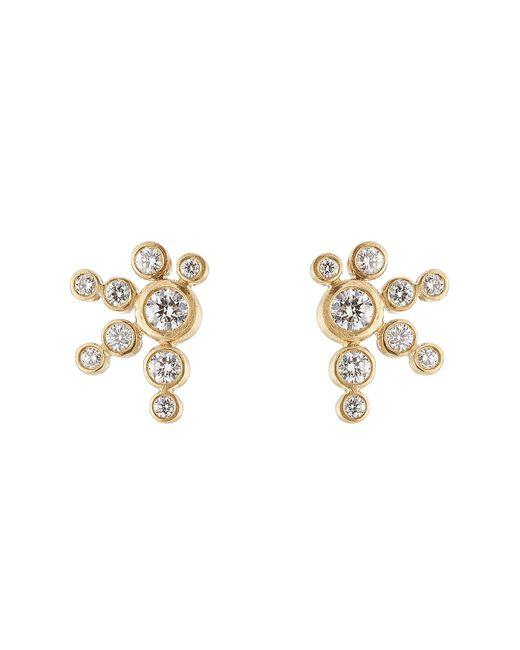 Sophie Bille Brahe | Metallic Flacon De Neige 18k Gold Earrings With Diamonds | Lyst