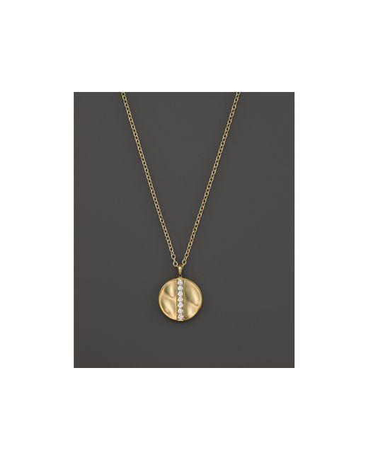 "Ippolita | Metallic 18k Gold Glamazon Stardust Medium Disc Pendant Necklace With Diamonds, 16"" | Lyst"