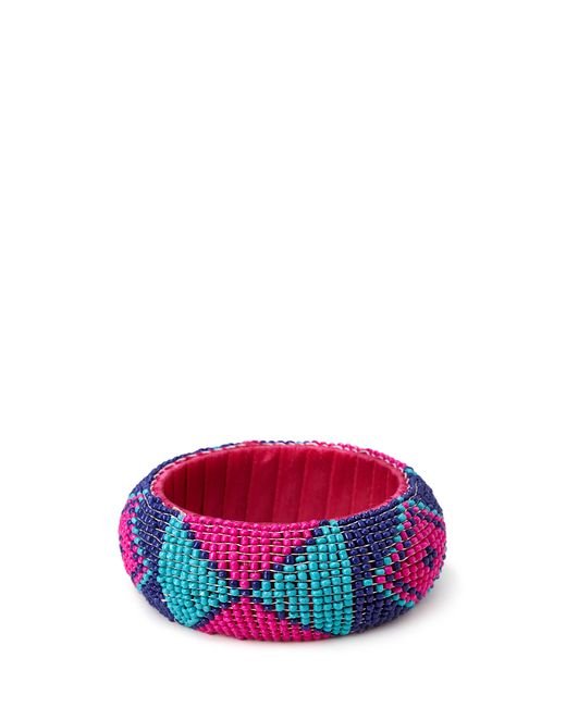 Forever 21 | Pink Bold Beaded Bangle | Lyst