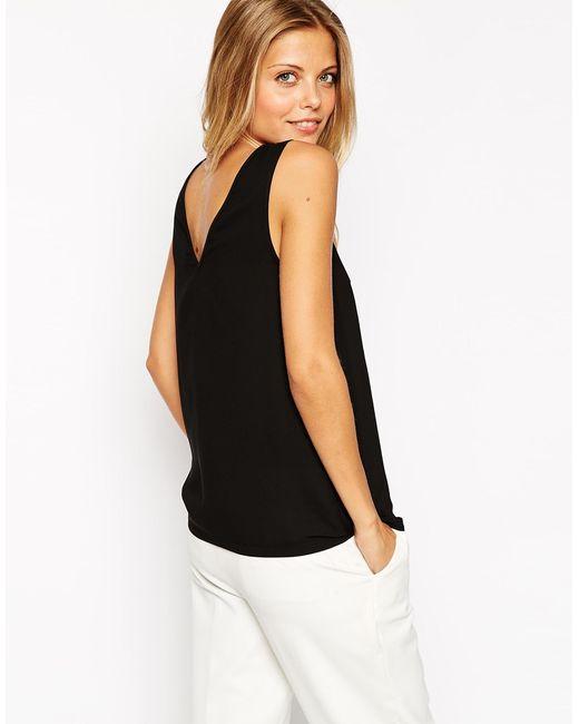 ASOS | V Front & V Back Vest - Black | Lyst
