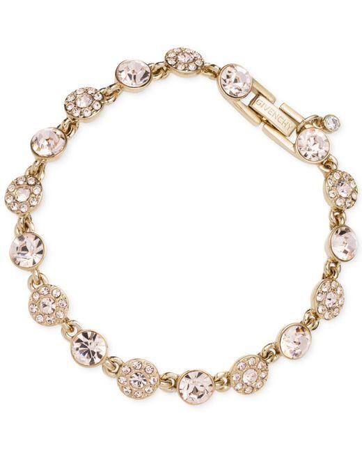 Givenchy | Metallic Gold-tone Pavé Flex Bracelet | Lyst