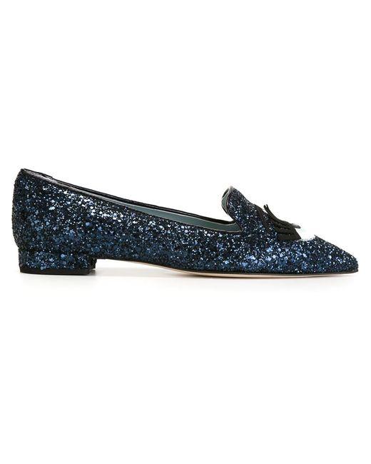 Chiara Ferragni | Black 10mm Flirting Glitter Loafers | Lyst