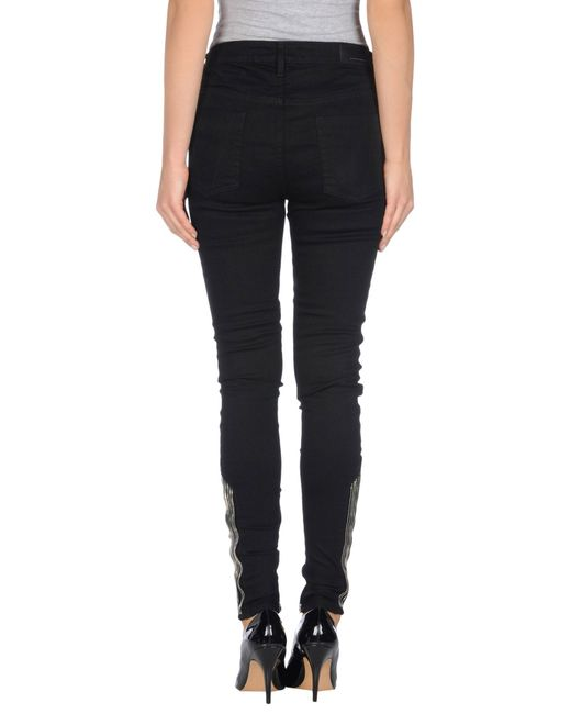 Victoria Beckham | Black Denim Trousers | Lyst