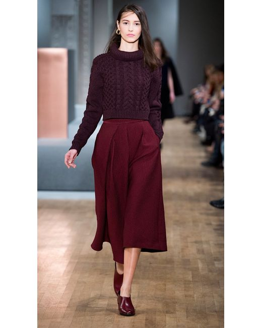 Tibi | Brown Corazon Jacquard High Waisted Culottes | Lyst