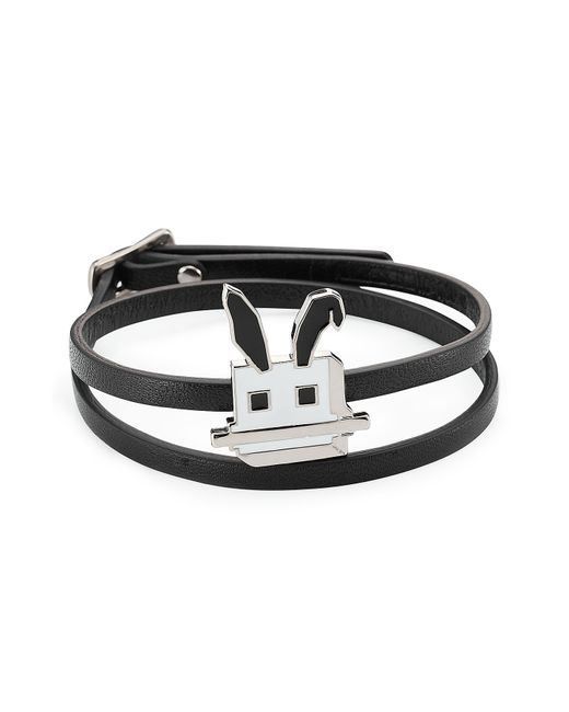 McQ Alexander McQueen | Black Embellished Leather Bracelet | Lyst