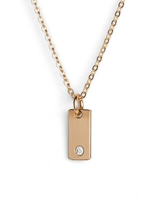 nashelle bar pendant necklace in gold lyst