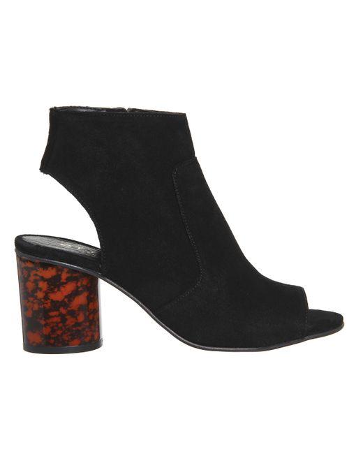office marley peep toe shoe boots in black lyst