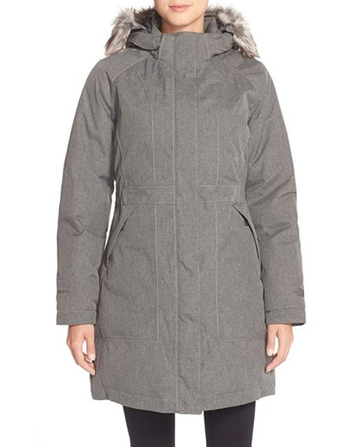 the north face gray 39 arctic 39 parka with removable faux. Black Bedroom Furniture Sets. Home Design Ideas
