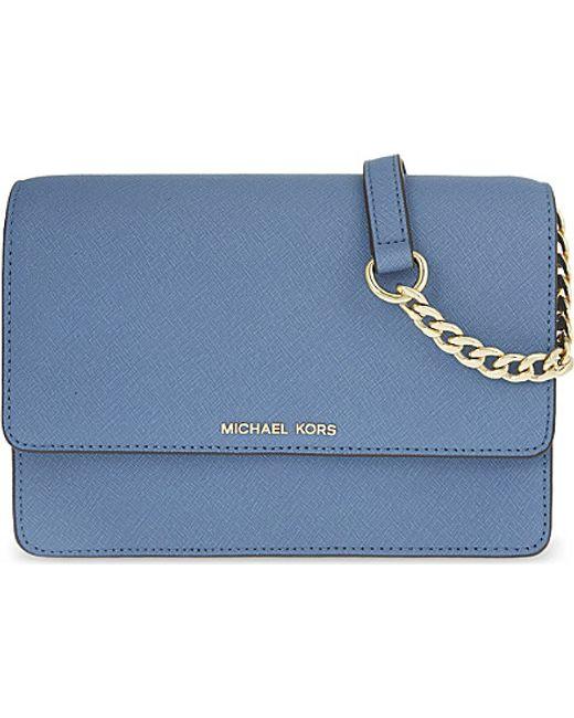 MICHAEL Michael Kors | Blue Daniela Small Leather Cross-body Bag | Lyst