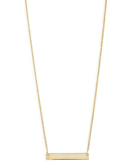 Bony Levy | Yellow 14k Gold Bar Pendant Necklace (nordstrom Exclusive) | Lyst