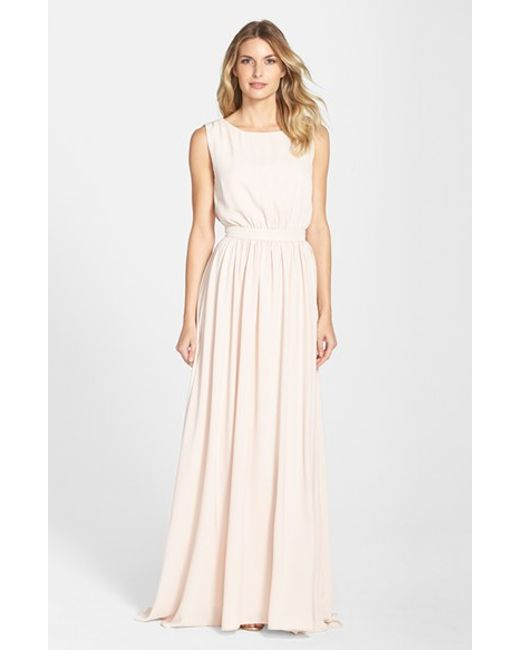 Paper Crown | Pink By Lauren Conrad 'tori' Crepe Gown | Lyst