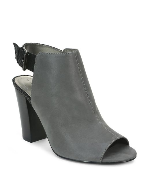 Tahari | Gray Margaret Peep Toe Booties | Lyst
