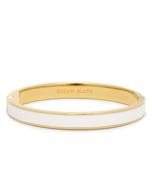 Kate Spade | White Clean Slate Idiom Bangle | Lyst