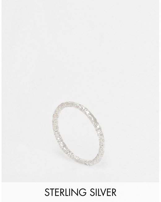 Dogeared | Metallic Sterling Silver Midi Love Sparkle Ring | Lyst