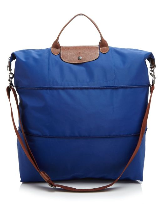 Longchamp Le Pliage Expandable Travel Duffel Weekender In