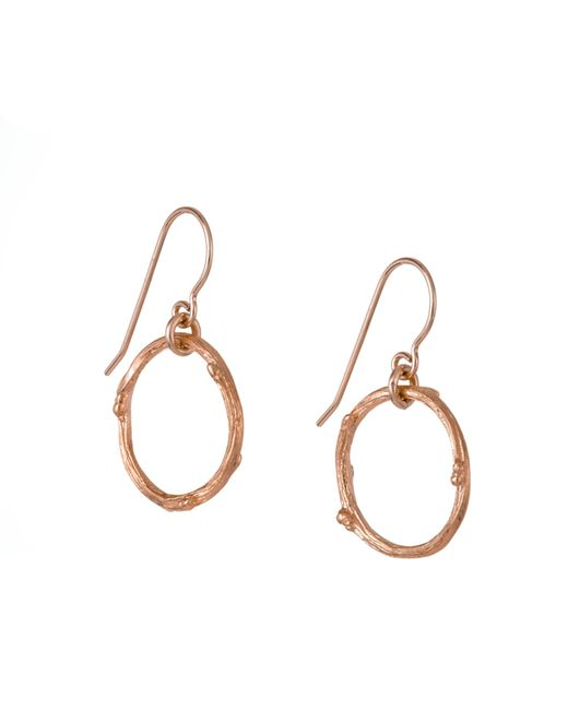 Chupi | Metallic Hawthorn Twig Infinity Earrings Rose Gold | Lyst