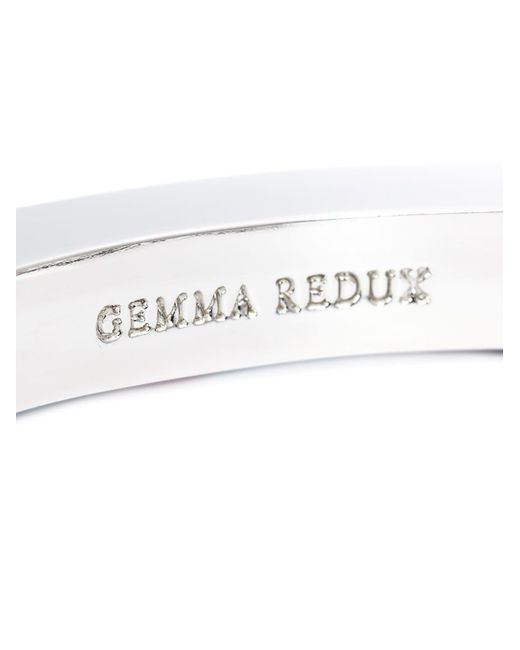 Gemma Redux | Black Marbled Paint Bangle | Lyst