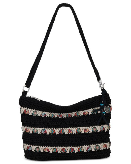 The Sak Black Crochet Handbag : The sak Classic Mini 3-in-1 Crochet Clutch in Black (Black Ribbon ...