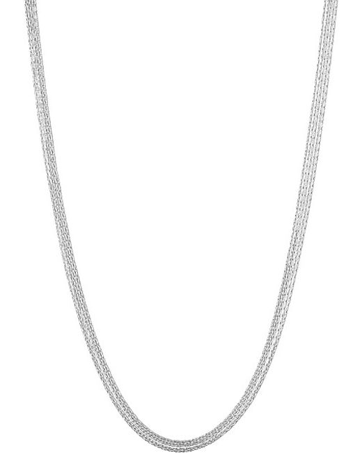 Links of London | Metallic Silk 5 Row Sterling Silver Necklace | Lyst