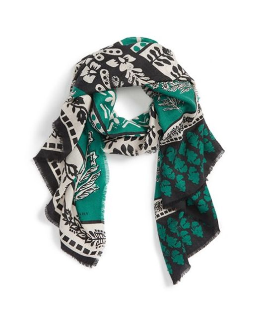 Burberry Prorsum | Blue Patchwork Geo Print Cashmere Scarf | Lyst