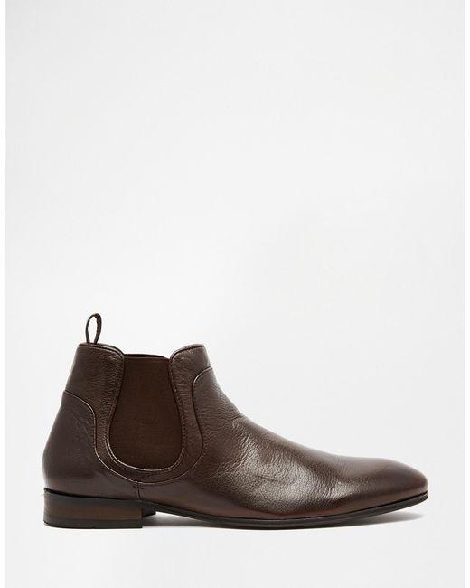 h by hudson henley chelsea boots in brown for men lyst. Black Bedroom Furniture Sets. Home Design Ideas