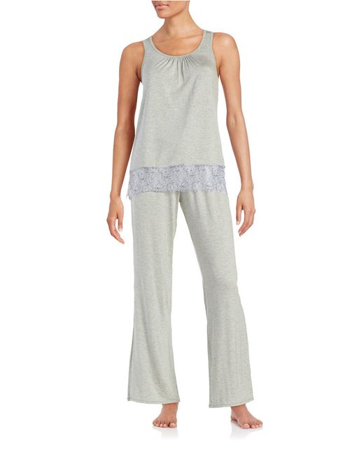 Felina | Gray 2-piece Alice Pajama Set | Lyst
