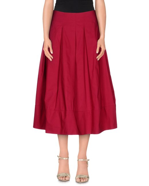 Ottod'Ame | Red 3/4 Length Skirt | Lyst