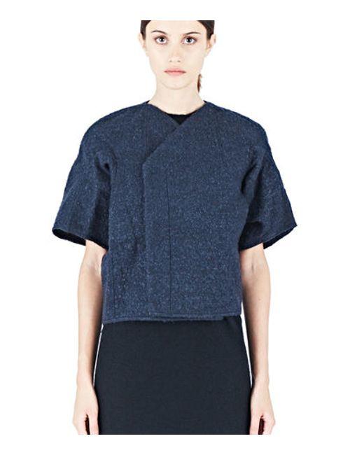 Rick Owens | Blue Women's Structured Cocoon Jacket In Navy | Lyst