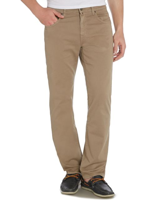 GANT | Brown Jason Comfort Desert Twill Jeans for Men | Lyst