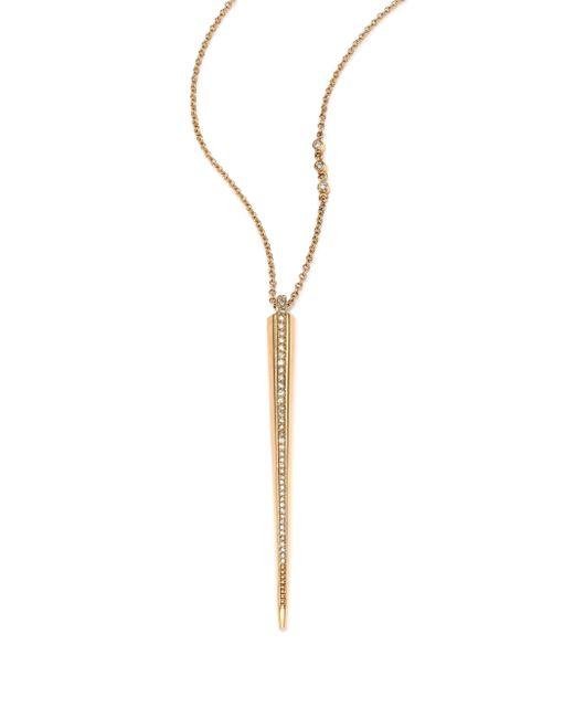 Phyne By Paige Novick | Metallic Cristina Diamond & 14k Yellow Gold Icicle Pendant Necklace | Lyst