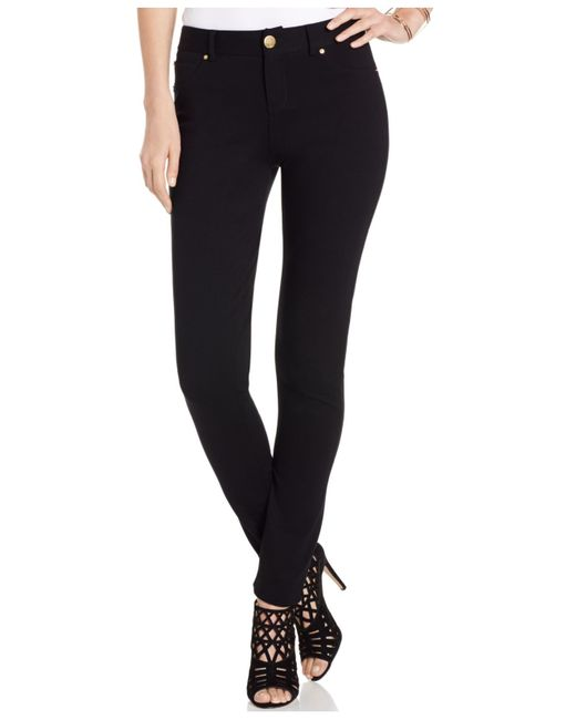INC International Concepts | Black Petite Ponte Skinny Pants, Only At Macy's | Lyst