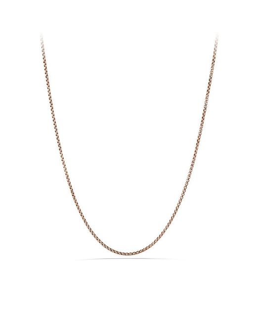 David Yurman | Pink Small Box Chain Necklace In 18k Rose Gold, 2.7mm | Lyst