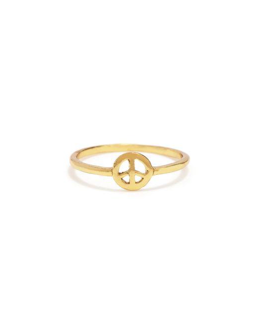 Bing Bang | Metallic Little Peace Ring | Lyst