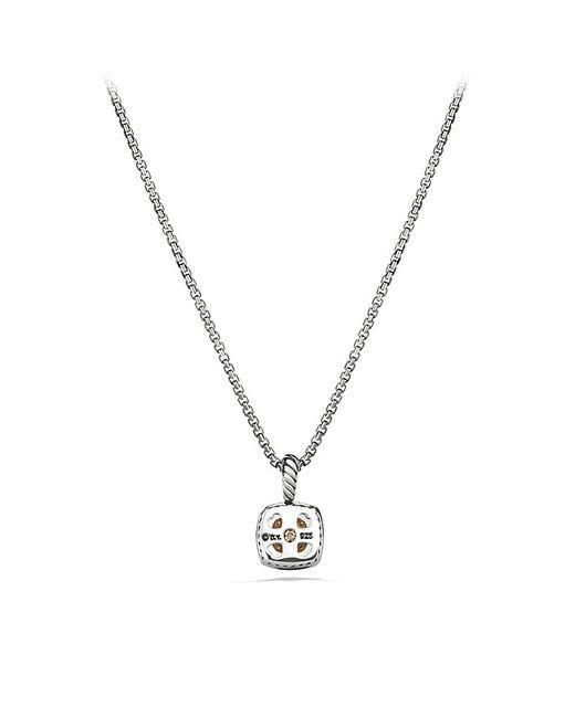 David Yurman | Metallic Petite Albion Pendant Necklace With Diamonds | Lyst