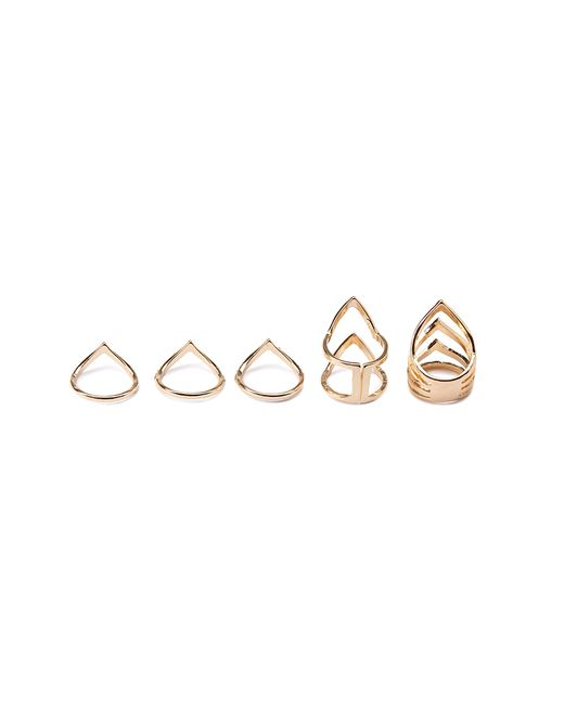 Forever 21 | Metallic Cutout Chevron Ring Set | Lyst