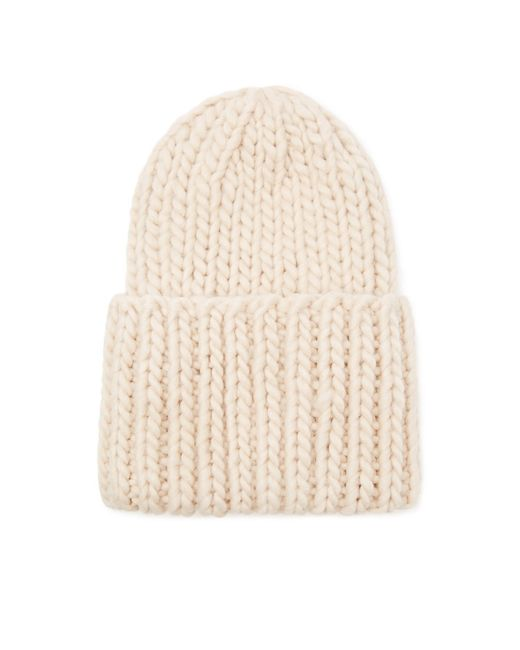 Forever 21 | White Chunky Purl Knit Beanie | Lyst
