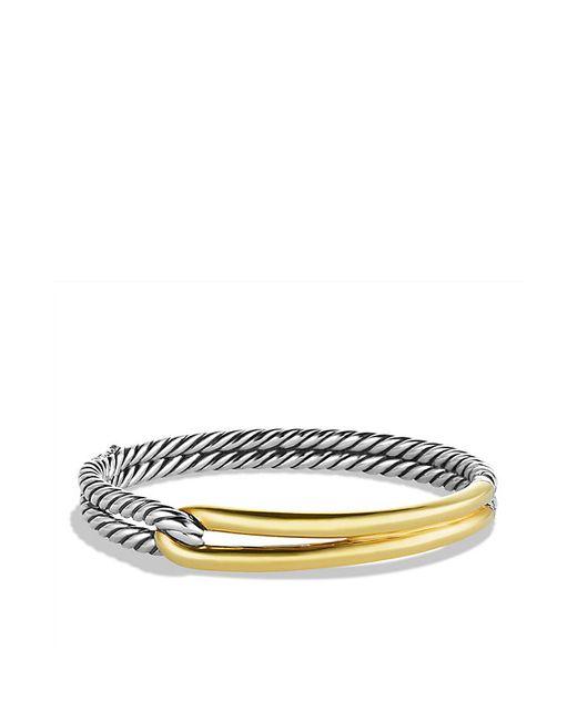 David Yurman   Metallic Labyrinth Single-loop Bracelet With 18k Gold, 10mm   Lyst