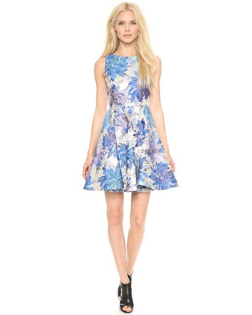 Alice + Olivia   Blue Tamika Dress   Lyst