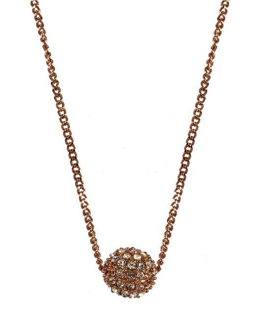 Givenchy | Metallic Rose Gold Plated And Crystal Fireball Necklace | Lyst