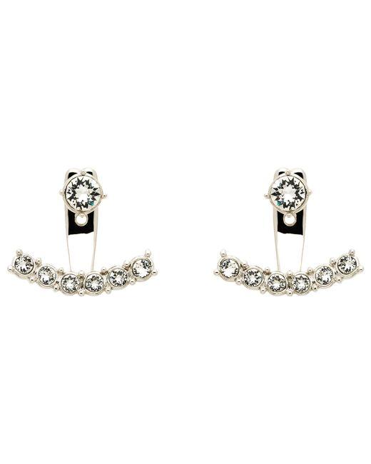 Melissa Odabash | Metallic Swarovski Crystal Crescent Drop Earrings | Lyst