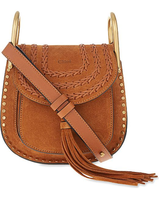 chlo hudson mini suede cross body bag in brown caramel lyst. Black Bedroom Furniture Sets. Home Design Ideas