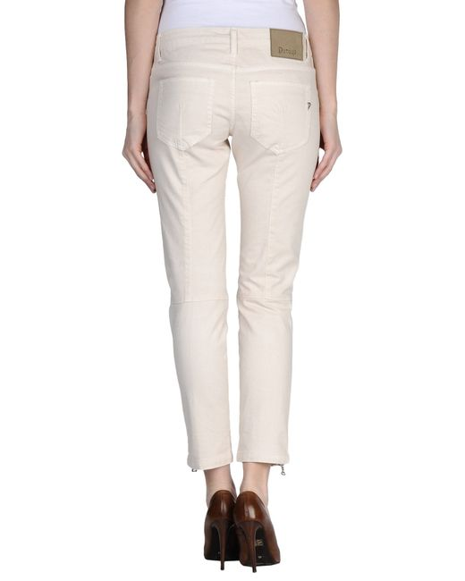 Dondup | White Denim Trousers | Lyst
